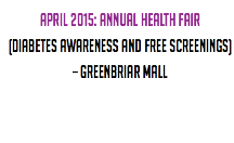 April 2015: Annual Health Fair 